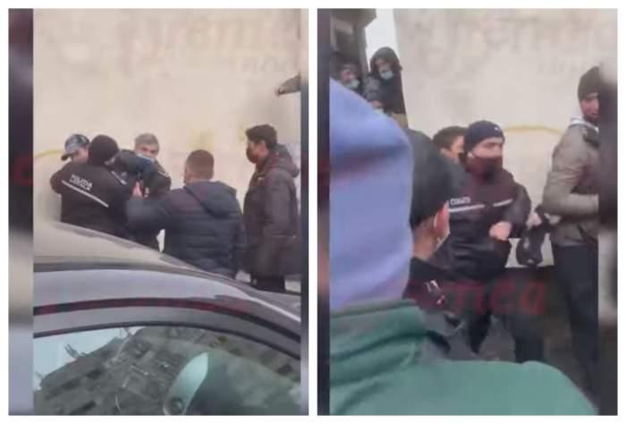 Politistii din Vaslui sunt batuti in spatele unei cladiri de localnici