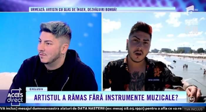 """Acces Direct. Fosta iubită a artistului care susține că ar fi fost jefuit, acuzații grave la adresa cântărețului: """"Am chemat Poliția. Începuse să mă lovească"""" / VIDEO"""