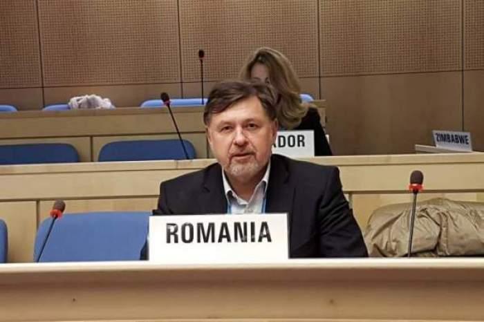 Alexandru Rafila, fotografiat la OMS