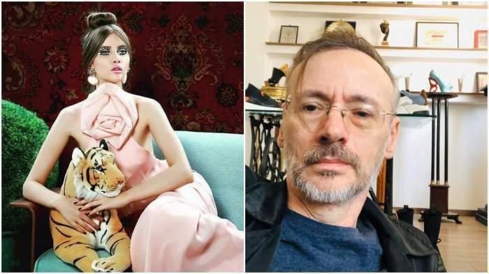 Colaj foto cu Mihai și Iulia Albu, ambii foarte serioși