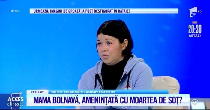 """Acces Direct. Mamă bolnavă de cancer, maltratată crunt de soț! Femeia este amenințată că i se vor lua cei trei copii: """"Spune că nu mai are ce face cu mine"""" / VIDEO"""