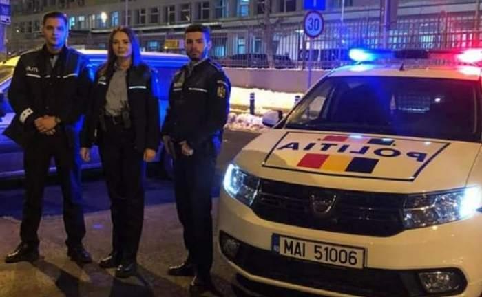 """O femeie a născut într-o mașină, pe o stradă din Capitală. Trei polițiști au fost """"moașe"""""""