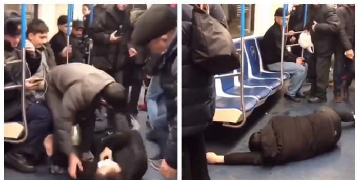 Panică la metrou! Un bărbat s-a prăbuşit la podea şi s-a strigat că e infectat cu coronavirus / VIDEO