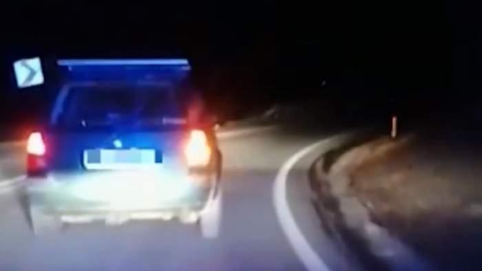 Polițiștii din Cluj, șocați de alcoolemia unui șofer! Circula haotic pe DN1 / VIDEO
