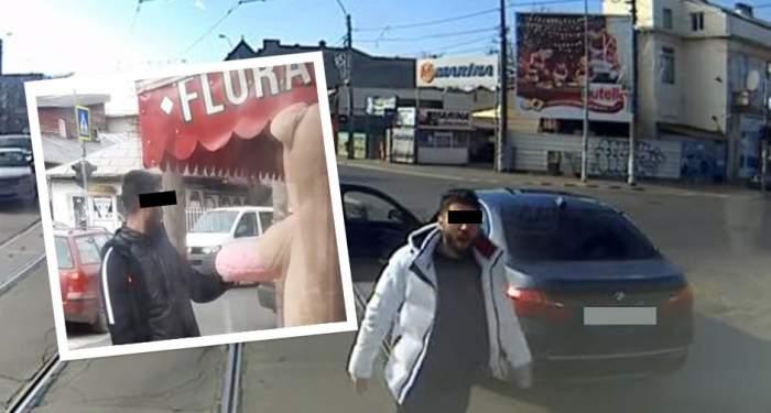 VIDEO PAPARAZZI / Cocolarul ''şifonat'' de vatman, un romantic incurabil. S-a dat în stambă, din nou, pe străzile din Capitală. Ce cadou i-a luat iubitei
