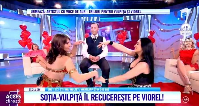 Vulpiţa, mişcări de infarct pentru Viorel! Veronica a făcut show pe muzică orientală / VIDEO