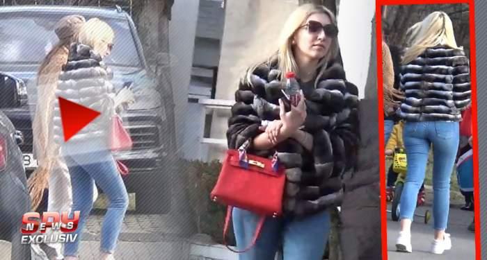 """VIDEO PAPARAZZI / Alexandra Becali a coborât printre muritori. Fiica lui Gigi Becali, """"undercover"""" prin Bucureşti"""