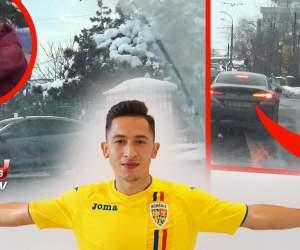 VIDEO / Certat de Gigi Becali după ce și-a luat bolid de 100.000 de euro, Moruțan a fost prins din nou în ofsaid. Starul lui FCSB ignoră cu nonșalanță regulile din trafic