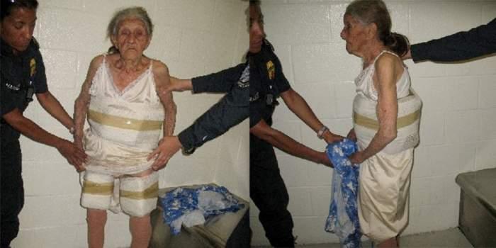 """O femeie de 94 de ani a încercat să treacă graniţa cu 10 kilograme de cannabis. """"Am venit pentru cumpărături"""""""