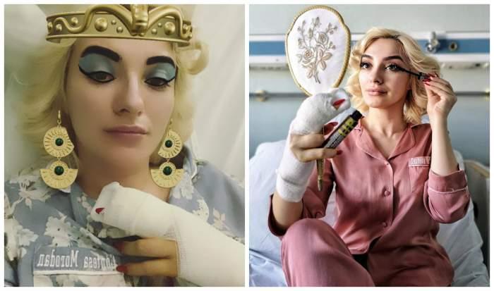 """Ana Morodan, cu mâna în ghips pe patul de spital: """"Aveam un sfert de deget în pungă"""""""
