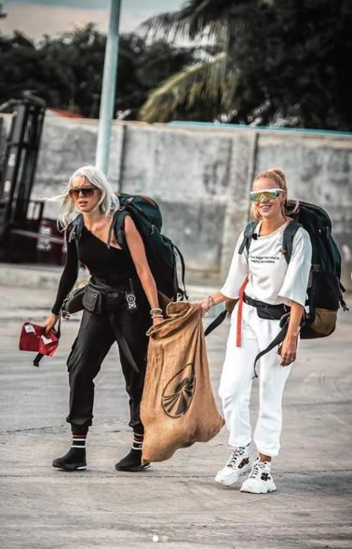 """VIDEO / """"Blondele Extraterestre"""" de la Asia Express au mărturisit! Ce obiect nu le-a lipsit deloc Alinei Ceuşan şi lui Carmen Grebenişan pe perioada filmărilor"""