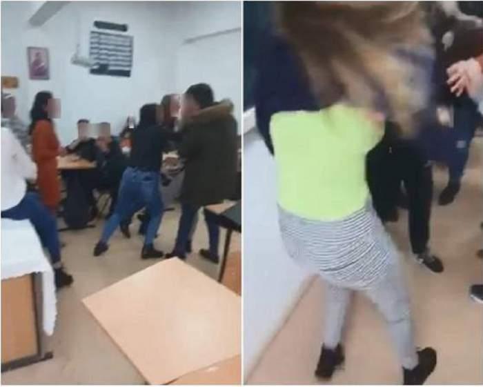 Două eleve din Maramureş s-au bătut sub ochii profesoarei. Colegii filmează şi aplaudă / VIDEO