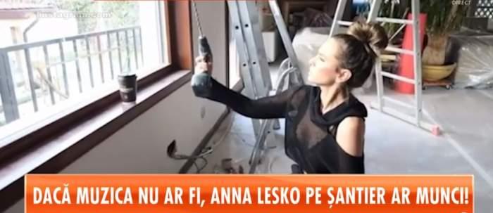 VIDEO / Primele imagini din noua casă a Annei Lesko. Vedeta a demonstrat că este meseriaşă