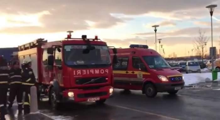 Explozie și incendiu puternic lângă vila de protocol a președintelui Iohannis. Fumul poate fi văzut de la câțiva kilometri