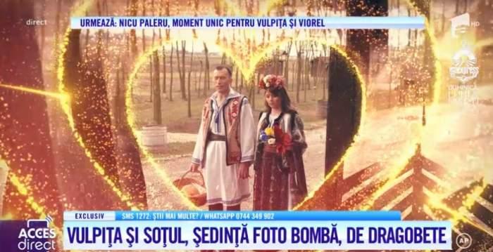 Vulpița și Viorel, ședință foto romantică de Dragobete! Și-au făcut declarații de dragoste siropoase / VIDEO