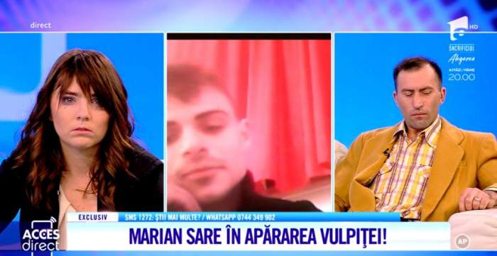 Amantul Marian sare în apărarea Vulpiţei şi aruncă bomba. Este îndrăgostit de Veronica. ''Eu pot să-i ofer afecţiune şi iubire''