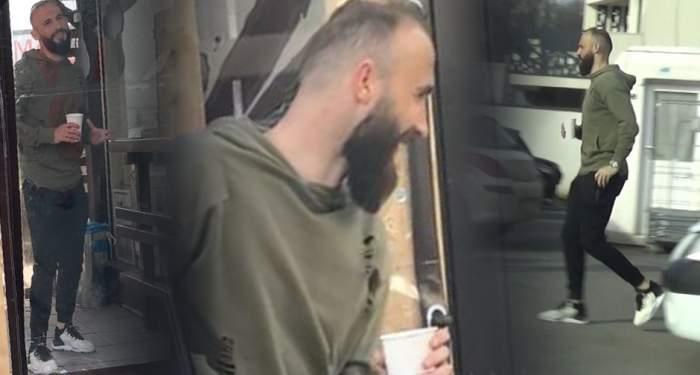 VIDEO PAPARAZZI / ''Perla'' lui Dinamo nu le are deloc cu fiţele. În timp ce colegii se distrează în locuri exclusiviste, cel mai tare ''câine'' din haită îşi bea cafeaua la colţ de bloc