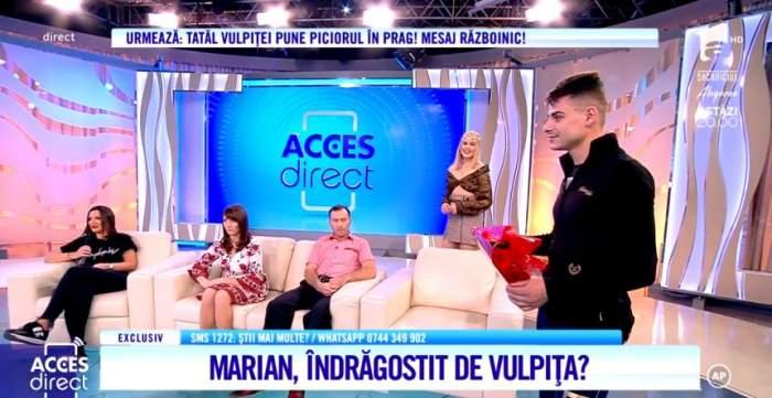 Marian, surpriză romantică pentru Vulpiţă. După ce ieri i-a declarat iubirea, astăzi a întâmpinat-o cu un buchet de trandafiri / VIDEO