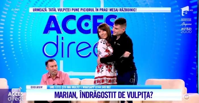 Ce s-a întâmplat în pauza de publicitate între Vulpiţă şi amantul Marian. Mirela Vaida i-a dat de gol