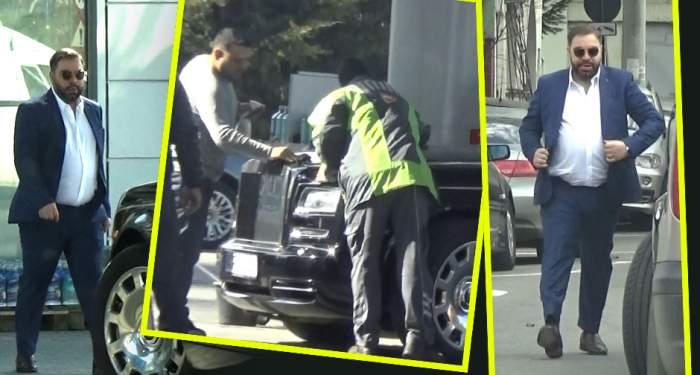 VIDEO PAPARAZZI / Florin Salam, îmbrăţişări cu o domnişoară misterioasă, în benzinărie. Ce a făcut celebrul manelist înainte de a-l vizita pe Costi Ioniţă