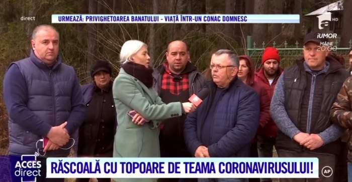 Răscoală cu topoare şi bâte de frica coronavirusului. Localnicii din Nucşoara îşi strigă revolta. ''Ne simţim în pericol''