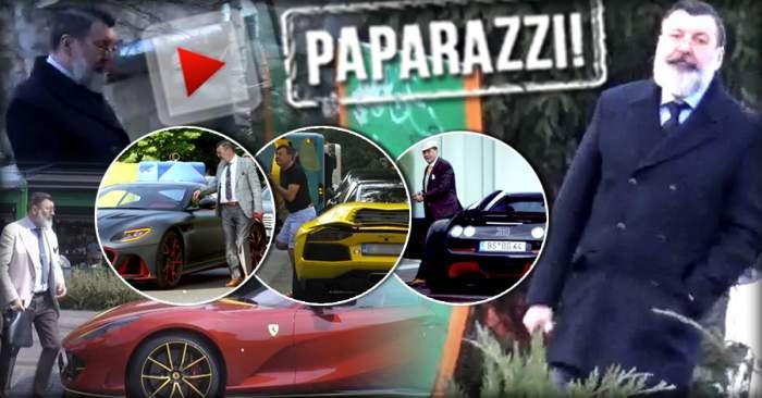 VIDEO PAPARAZZI / Nu mai face spectacol cu mașina de 400.000 de euro! Dan Nicorescu, apariție uluitoare într-un loc surprinzător