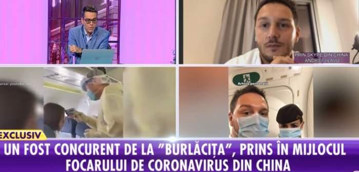 """Andrei Jilavu, fost concurent la """"Burlăciţa"""", în centrul focarului din China: """"Port o cutie de măşti cu mine peste tot"""" VIDEO"""