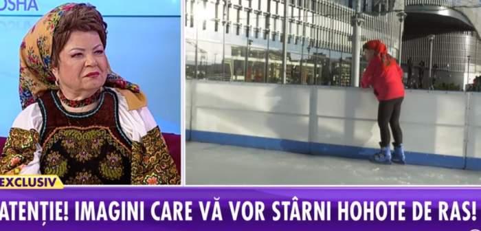 Saveta Bogdan, la un pas de accident. Cum s-a descurcat artista pentru prima dată la patinoar / VIDEO