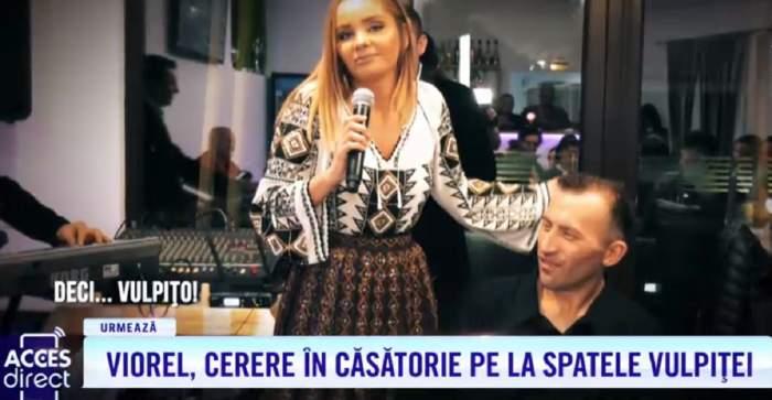 Viorel a cerut-o în căsătorie pe Maria Constantin, pe la spatele vulpiţei! Veronica, reacţie acidă la Acces Direct / VIDEO