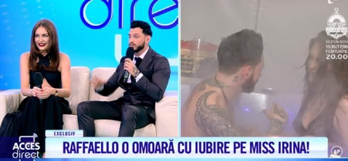 """Miss Irina, scenă de gelozie în direct. Rafaello, Raffaello, mai lasă fetele! """"Te băgai prea mult în seamă"""" / VIDEO"""
