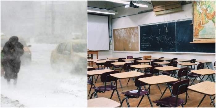 S-a decis! Școli închise, pe 6 februarie, din cauza viscolului