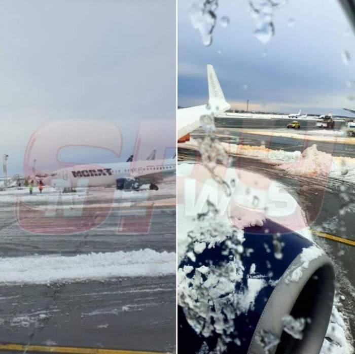 Probleme mari din cauza vremii şi pe Aeroportul Otopeni. Întârzieri de peste 3 ore. Călătorii sunt disperaţi / FOTO