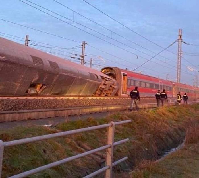 Accident feroviar teribil, în Italia. Doi morți și 30 de răniți, după ce un tren a sărit de pe șine / VIDEO