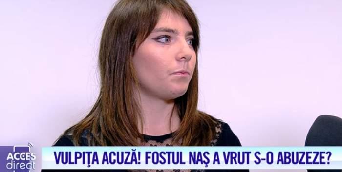 Cea mai şocantă acuzaţie a vulpiţei! Fostul naş a vrut să o abuzeze? / VIDEO