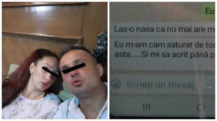 """Șocant! Ultimul mesaj trimis de criminalul din Chitila, înainte de a-și ucide soția: """"Las-o, că nu mai are mult"""""""
