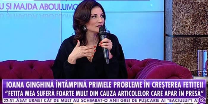 """VIDEO / Ioana Ginghină, despre problemele cu fiica sa: """"Am întrebat psihologul dacă e normal"""""""