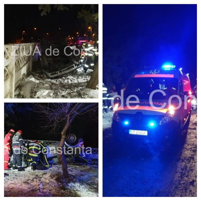 Accident cumplit în Constanţa. Un tânăr care avea permisul suspendat a murit, după ce s-a răsturnat cu maşina