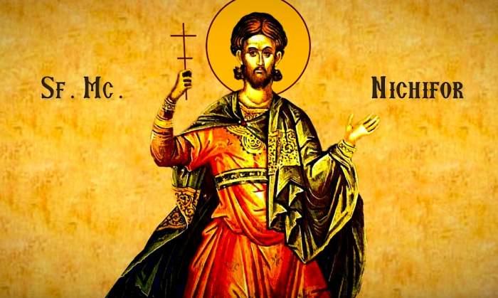 Calendar ortodox, duminică, 9 februarie. Rugăciunea pentru Sfântul Mucenic Nichifor, care te ferește de rele