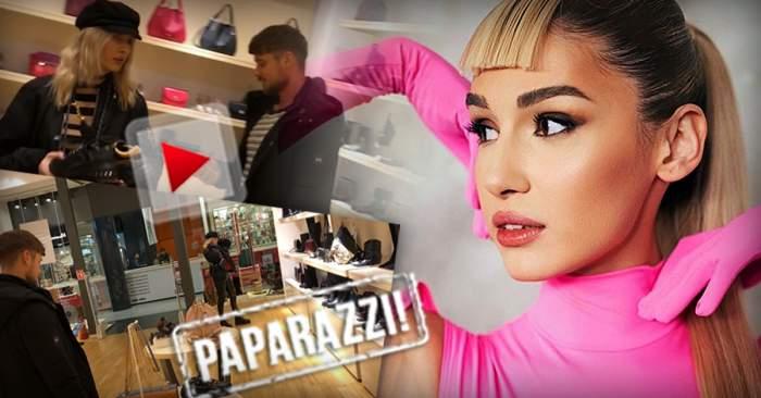 VIDEO PAPARAZZI / Alina Eremia, pretențioasă când vine vorba despre  cumpărături. Și-a luat iubitul de mână în magazin, însă a avut de așteptat minute bune