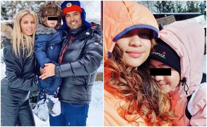 Vedetele au profitat din plin de zăpadă! Au lăsat agitația din Capitală pe distracția de la munte / VIDEO