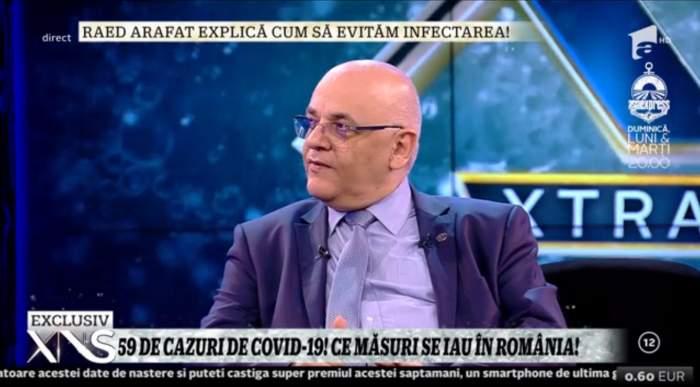 """Raed Arafat spune totul despre Covid-19: """"Dacă va creşte numărul cazurilor vor fi internaţi numai cei în stare gravă!"""""""