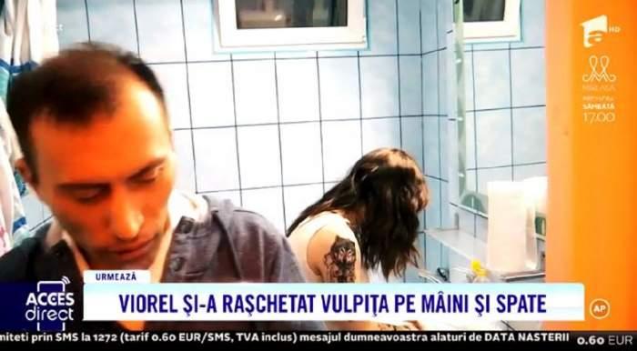 """VIDEO / Veronica, baricadată în dormitor! Tânăra din Blăgești refuză să-și mai vadă soțul după ce i-a șters tatuajele: """"Fiecare pe drumul lui"""""""