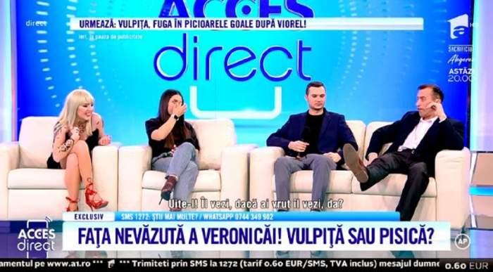 """VIDEO / Veronica și Viorel, scandal monstru în pauza de publicitate. """"Să rămâi cu tatuajele tale, fetițo"""". Bărbatul o amenință cu divorțul"""