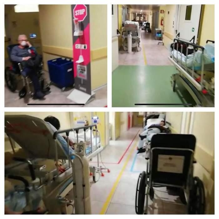Imagini parcă desprinse dintr-un film horror, într-un spital din Italia. Filmarea care arată cu ce se confruntă medicii / VIDEO