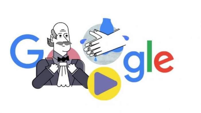 Cine a fost Ignaz Semmelweis. Google Doodle, despre importanța spălatului pe mâini
