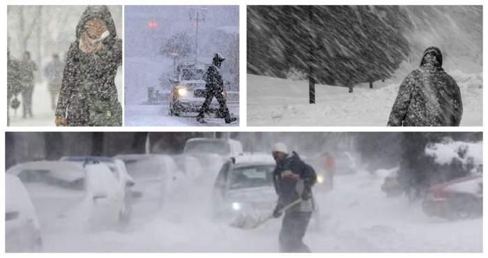 Anunț de ultimă oră de la ANM. Cod galben de viscol și ninsoare pentru mai multe zone din țară
