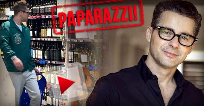 VIDEO PAPARAZZI / În plină pandemie de coronavirus, Adrian Sînă își face provizii... dar ce provizii! Cum a fost surprins cântărețul într-un supermarket