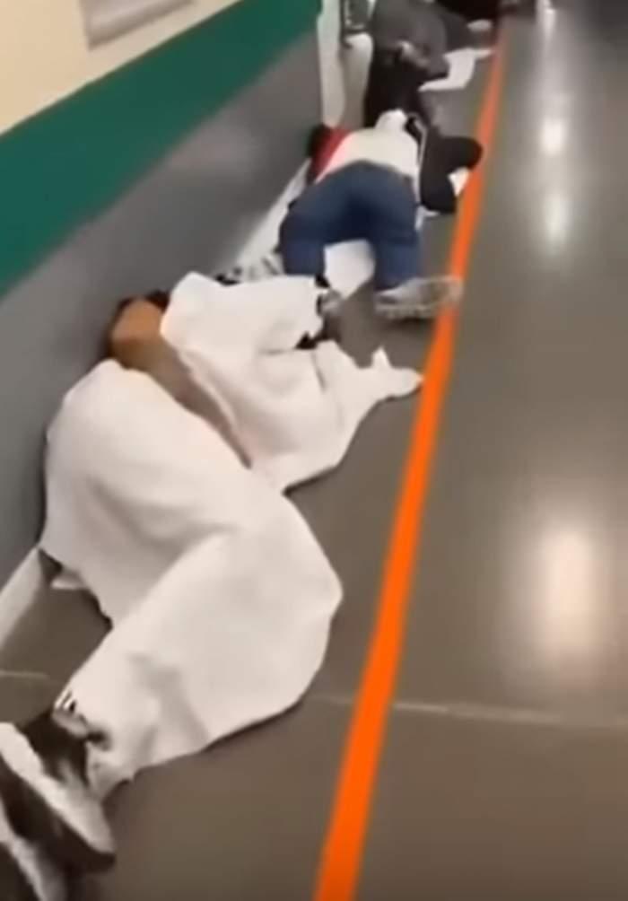VIDEO / Imagini dramatice în spitalele din Spania. Pacienții stau întinși pe holuri. Saloane pline până la refuz