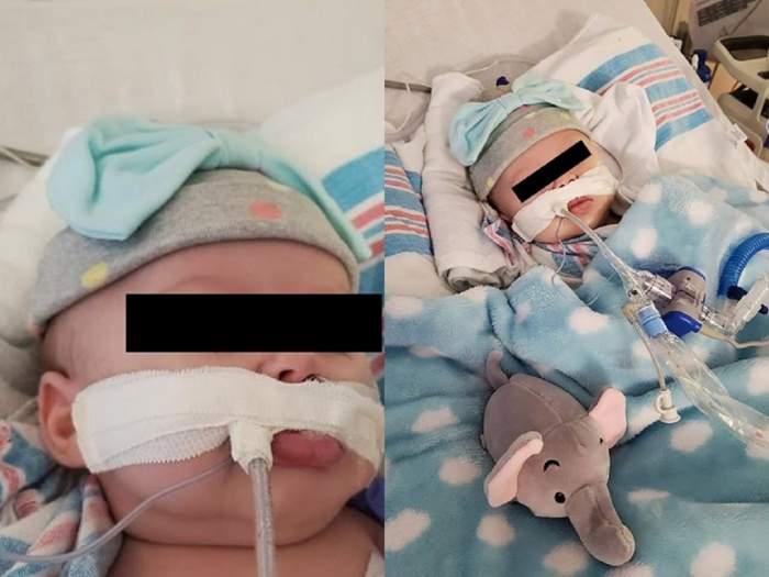 O fetiță de numai 2 luni a fost infectată cu coronavirus. Bebelușul se luptă să trăiască. Strigătul disperat al tinerei mame