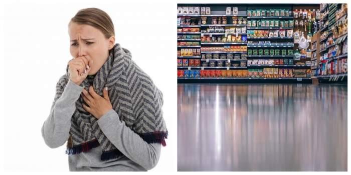De necrezut! Un supermarket și-a aruncat alimente în valoare de 35.000 de dolari, din cauza unei femei care a tușit intenționat pe ele